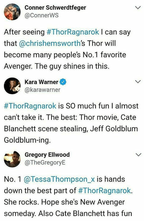 A COLLECTION OF EARLY REACTIONS FOR THOR RAGNAROK! A hell of a… – Marvel