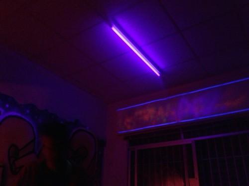 fluorescent light art Tumblr