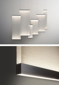 The Design Walker  LED fabric pendant #lamp CURTAIN by ...