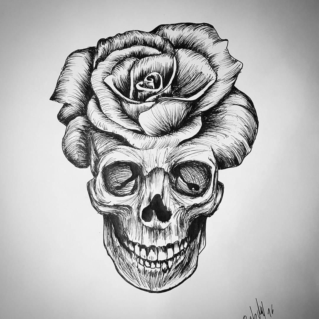 Con Calaveras Dibujar Para Rosas