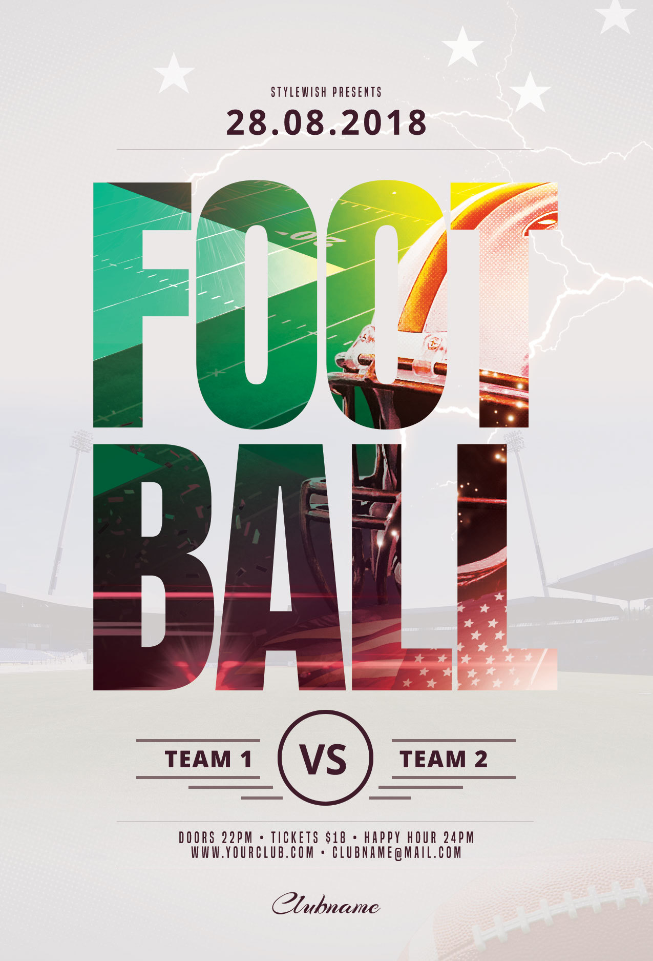 Football Flyer Template. Download The Psd Design For $9 At Graphicriver.