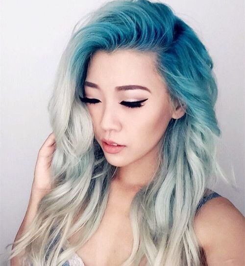 multi colored hair on Tumblr