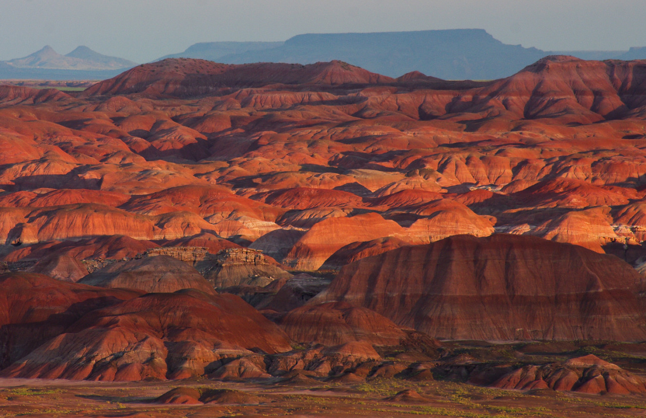 Americas Great Outdoors The colorful hills flattopped