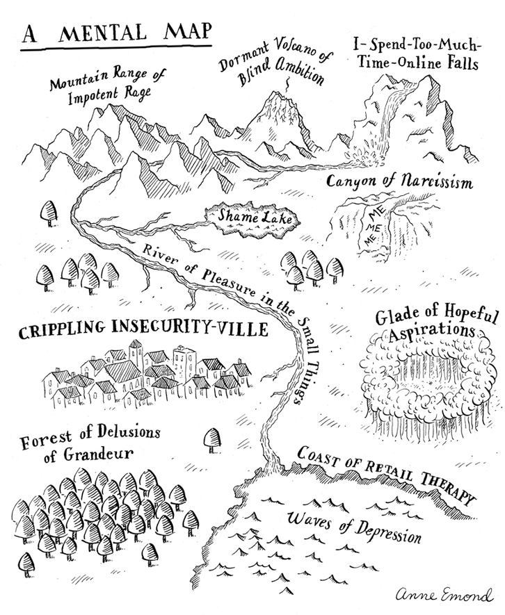 Houghton Mifflin Harcourt — ladysymphony: Map of a writer