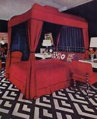 Super Seventies  1970 bedroom design from House & Garden.