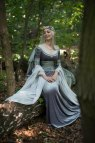 Silver Gray Elven Dress - Forest