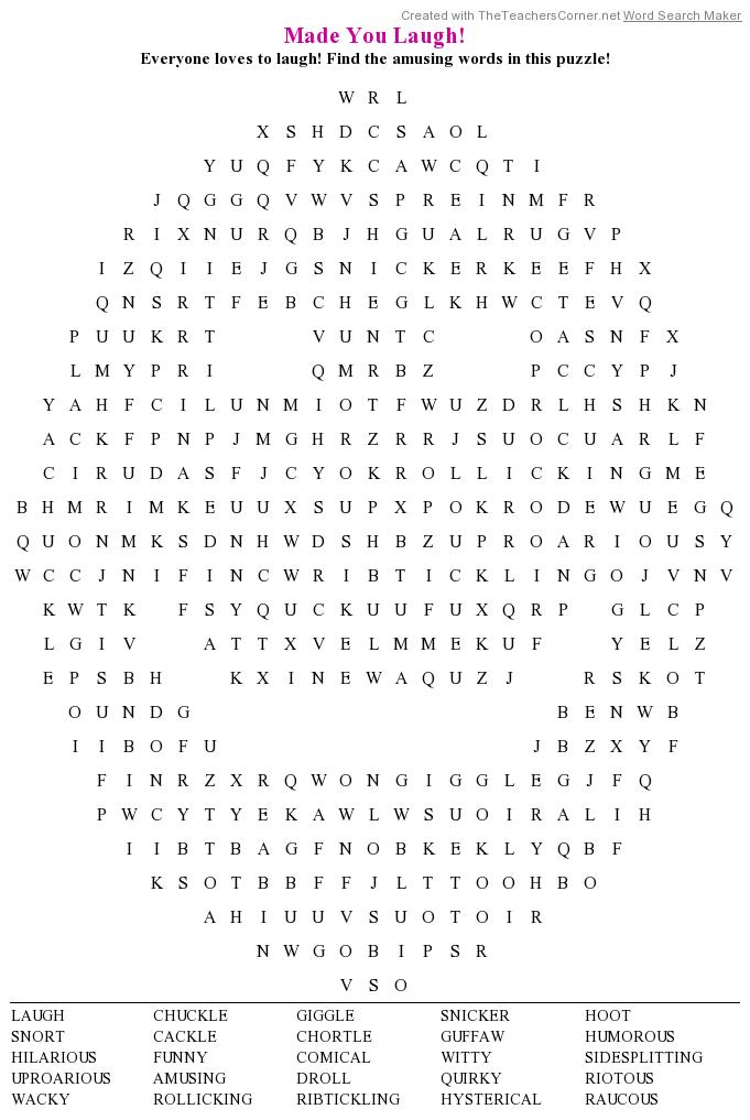 Just Laughs Crossword Clue