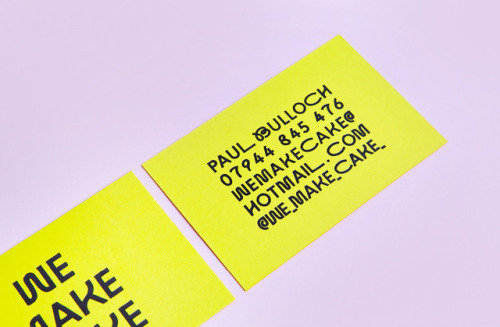 """tumblr_p2n0vyuqDY1r5vojso4_500 Emblem Id for We Make Cake by way of Saul Studio""""We Make Cake are... Design"""