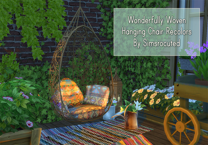 hanging chair the sims 4 high for girl simsrocuted