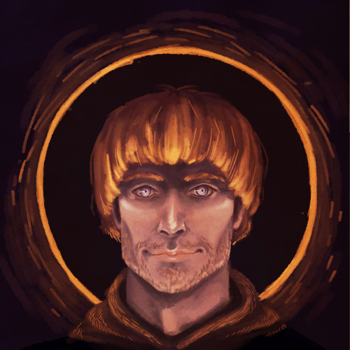 "Graham ""Gabriel"" Mallett from the Lymond Chronicles. Stole the palette/vibe from this painting by Klimt:I'm not afraid of Gabriel. YOU'RE AFRAID OF GABRIEL. WHATEVER."