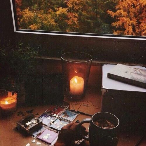 Autumn Falling Leaves Wallpaper Aesthetic Orange Tumblr