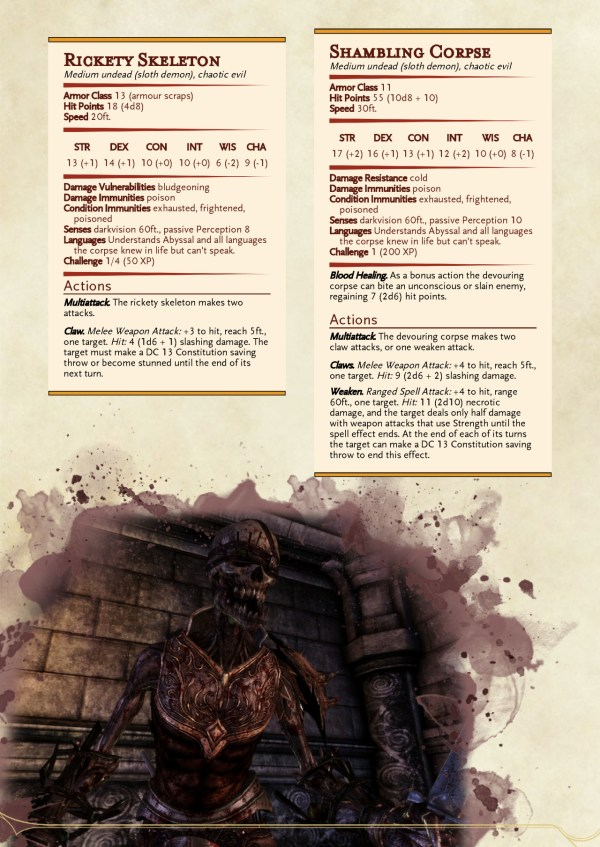Dungeons And Dragons Zombie Monsters - Year of Clean Water