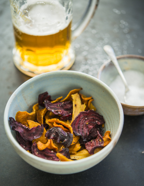 veggie chips from beetroot, sweet potato, carrot and parsnip