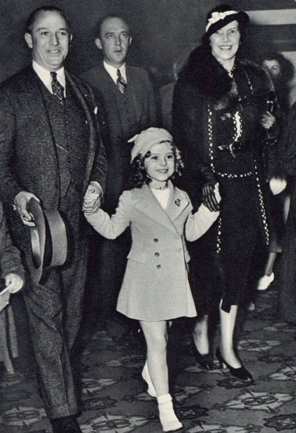 Shirley Temple And Her Parents 1936 History