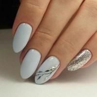 light blue nail art | Tumblr