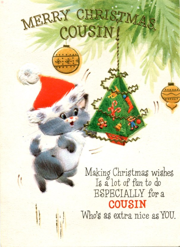 Vintage Hallmark Christmas Card with Punch-Out… – Glamrock