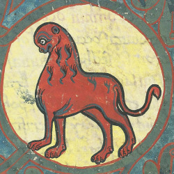 discardingimages:  apocalyptic menagerieBeatus of Liébana, Commentaria in Apocalypsin (the 'Beatus of Saint-Sever'), Saint-Sever before 1072BnF, Latin 8878, fol. 198r