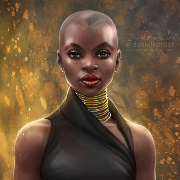 a24391bfbb8 daekazu  This time only a close-up of Okoye f… – Marvel