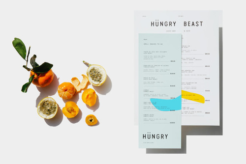 """tumblr_p3ftrmUkQE1r5vojso2_500 Brand Identity for Hungry Beast by Savvy Studio""""Hungry Beast is... Design"""