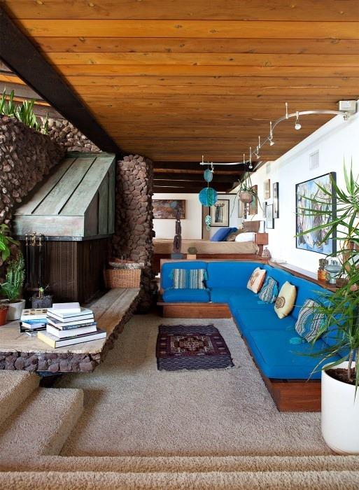 The Long 1970s  70s INTERIORS The Sunken Living Room