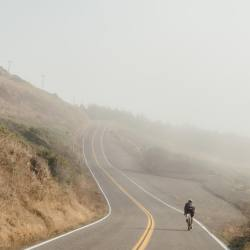 leaveitontheroad:  Coast vibes at the end of Side B Track 6. Only two days left until we reach the finale in SF. Check the link in the profile to make a donation or purchase a raffle ticket to win a week with your own @adventure_wagon! #liotrmixtape 📷 @jakeszyRoads. Endless roads.