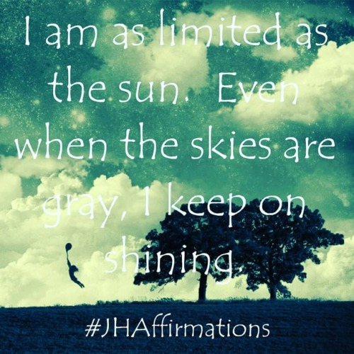 Your light is limitless. Shine on 🌟🌟🌟#JHAffirmations #dailyaffirmationschallenge #shineyourlight #youaremysunshine #thislittlelightofmine #limitless #positiveday #positivewords