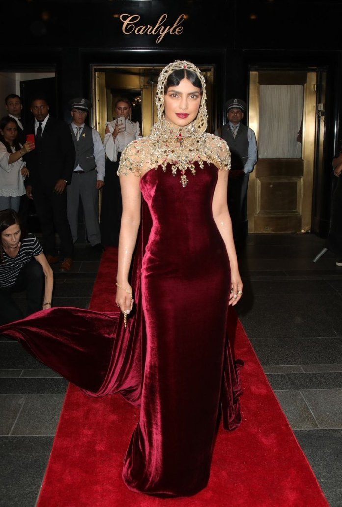 Priyanka Chopra attends the Heavenly Bodies: Fashion & The Catholic Imagination Costume Institute Gala at The Metropolitan Museum of Art on May 7, 2018 in New York City.