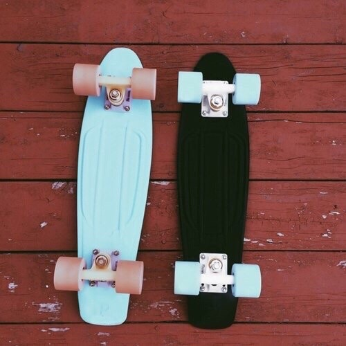 Skateboard Girl Wallpaper Blue Penny Board Tumblr