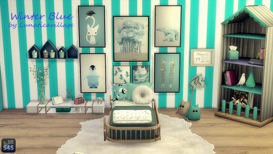 Lunaticavillage 2sis Lv Winter Blue Toddlers Bedroom