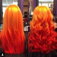 fire ombre hair | Tumblr