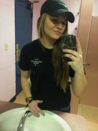 classy bathroom mirror selfies