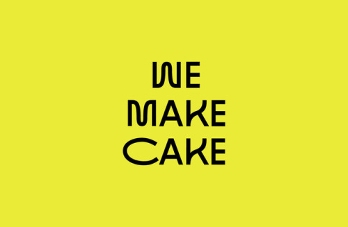 """tumblr_p2n0vyuqDY1r5vojso2_500 Emblem Id for We Make Cake by way of Saul Studio""""We Make Cake are... Design"""