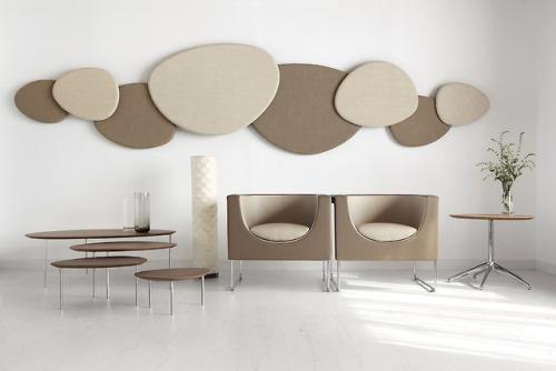 tumblr_pctzo5VMFK1qfx0suo1_500 stua:  Beige lobby proposal with STUA Satellite acoustic panels,... Contemporary