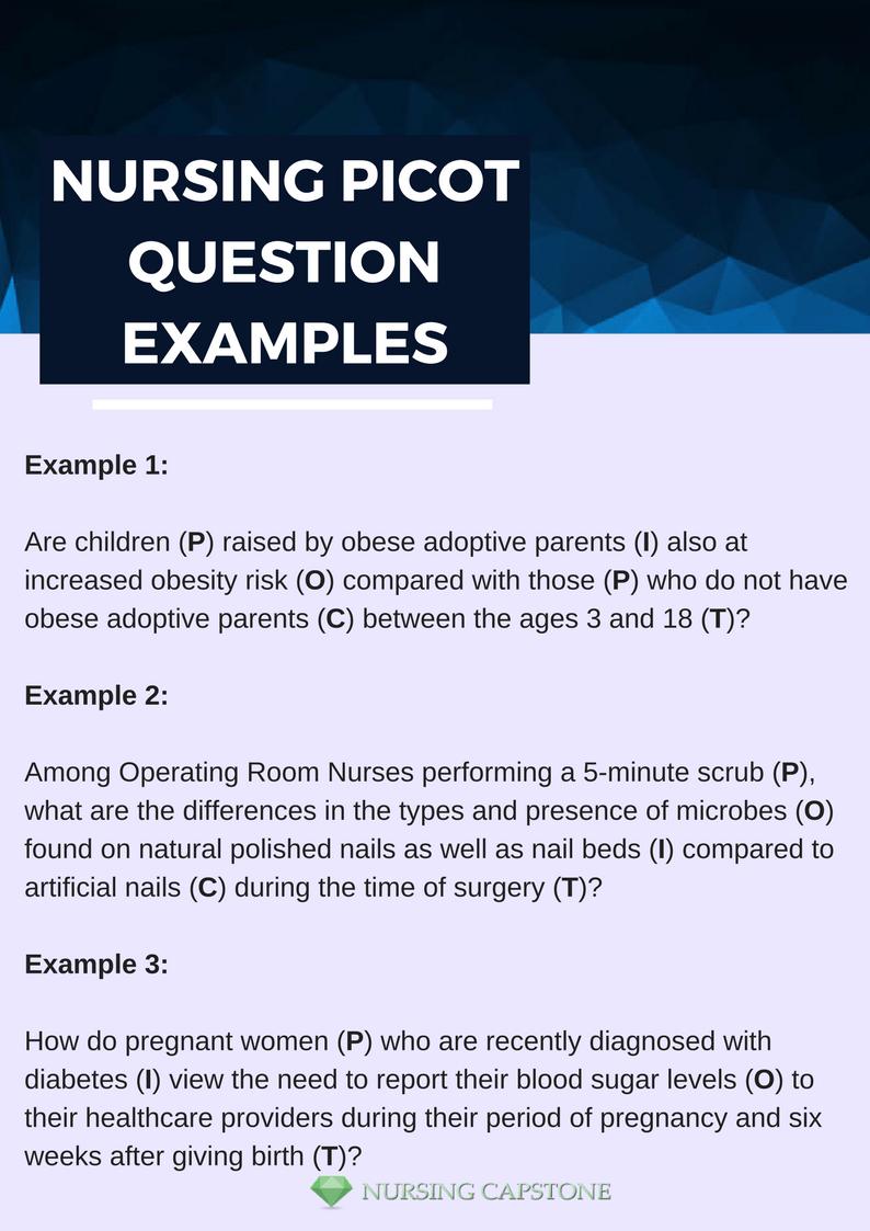 Nursing Capstone Samples — Nursing Picot Question Examples Nursing