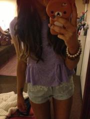ariana grande purple hair