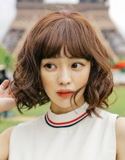 short hairstyles long bangs