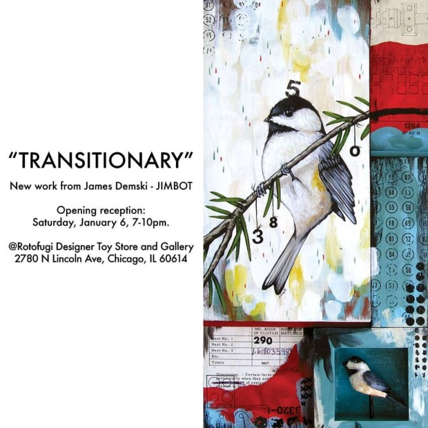 """Join me @Rotofugi in Chicago this Saturday, January 6th for my show """"Transitionary"""""""