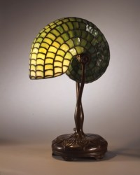 Design is fine.  Louis Comfort Tiffany, Reading lamp with ...