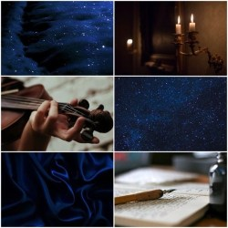 aesthetic candle starry violin night