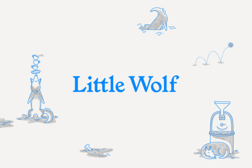 """tumblr_p2sk00vEWv1r5vojso1_500 Emblem Id for Little Wolf Espresso by way of Perky Bros.""""Little Wolf... Design"""