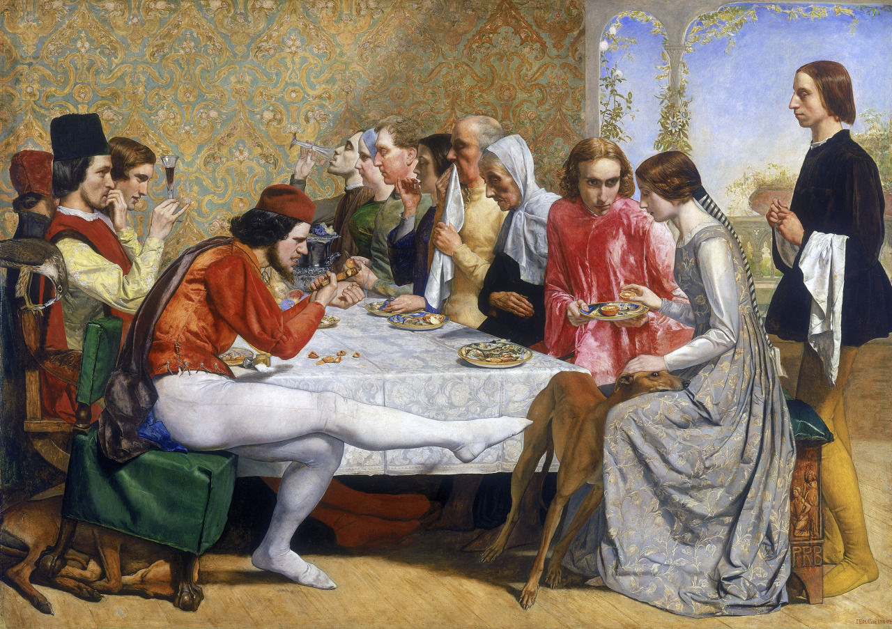 "John Everett Millais - ""Isabella"" (1848-1849, óleo sobre lienzo, 103 x 143 cm, The Walker Art Gallery, Liverpool) Este cuadro del pintor prerrafaelita John Everett Millais está inspirado en una de las historias del Decamerón de Boccaccio (jornada IV,..."