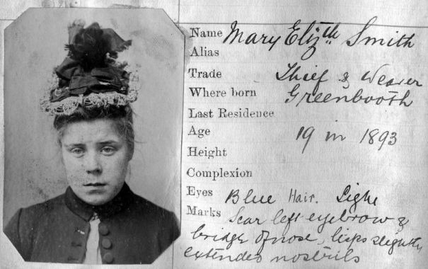 17 prominent Victorian mugshots of Manchester criminal faces