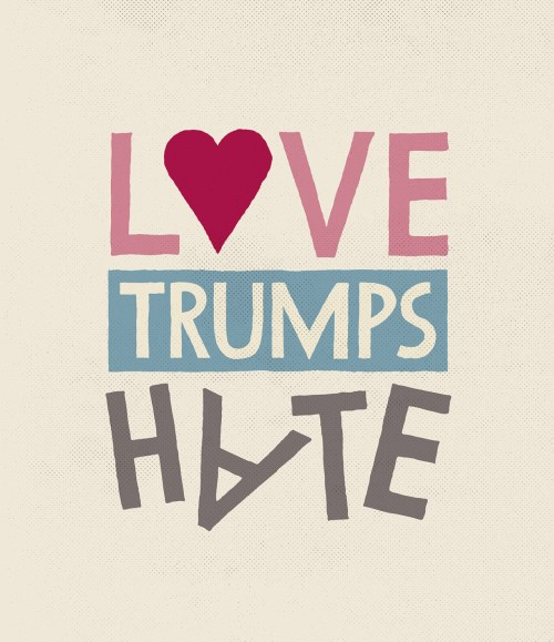Protest Poster - Love Trumps Hate - Frank Dresmé