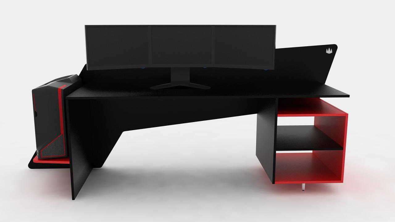 ProSpec Designs  A custom made desk for triple 22 monitors for