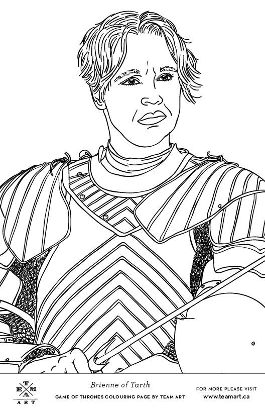 TEAM ART: We made some Game of Thrones colouring page...