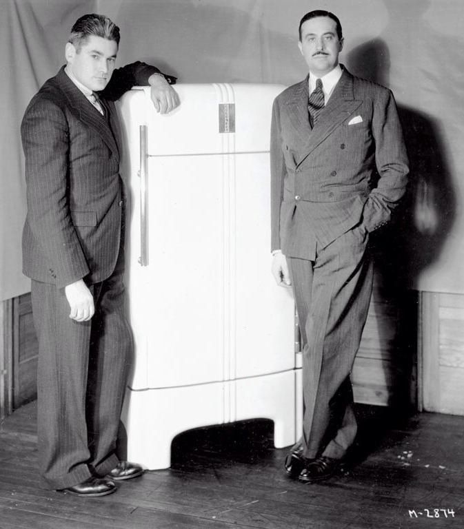 blue metal chairs swivel under £100 design is fine. — raymond loewy, refrigerator coldspot, 1935. usa.