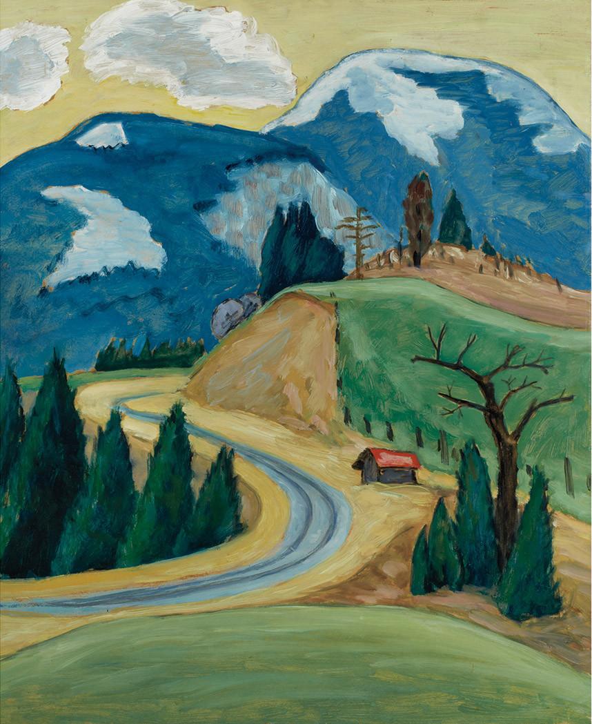 "lawrenceleemagnuson: ""Gabriele Munter (Germany 1877-1962) Winding Road (1913) oil on cardboard 55 x 46.6 cm """