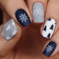 winter nails design | Tumblr