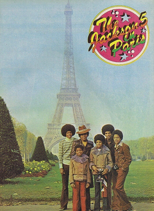 The Jackson 5 With Little Brother Randy In Paris 1972 Rb