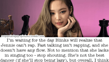 Blinks need to stop defending Jennie being lazy by saying she's
